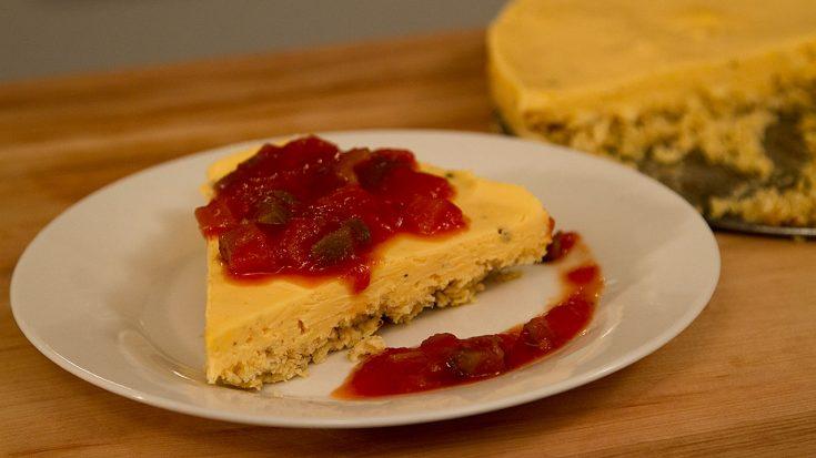Gâteau au fromage salé & salsa