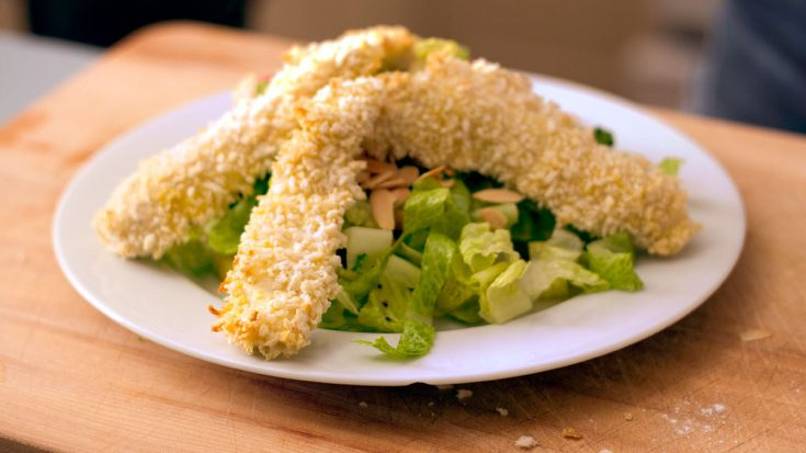 """Salade """"santé"""" aux doigts de poulet"""