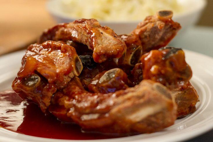 Côtes levées (ribs) frites