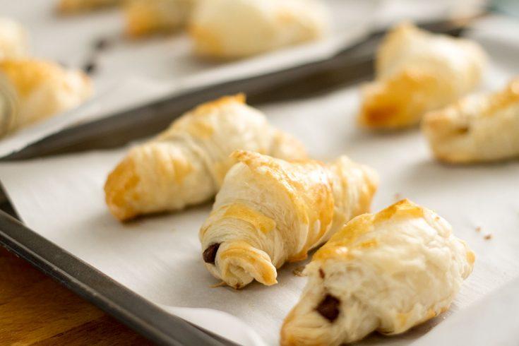 Croissants au chocolat à 3 ingrédients