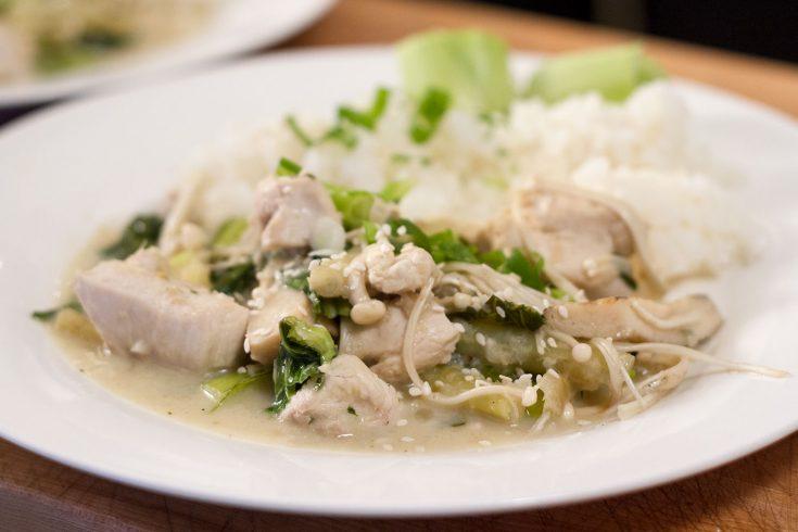Curry vert de poulet selon Alexandre Courteau